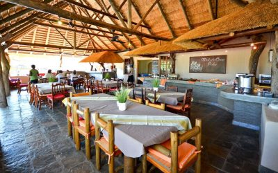 Tshukudu Game Lodge restaurant