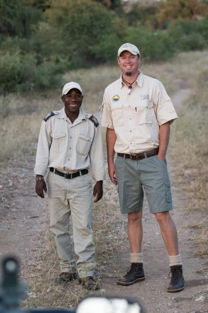 Shaun and Vusi tracking lions on a Kruger safari