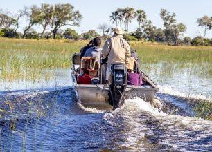 Boat safari in the Okavango Delta