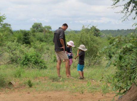 Kids in Kruger Park on a family safari